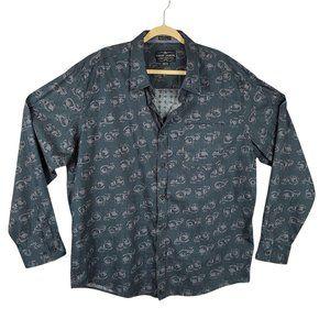 Cody James Western Dress Shirt Men's Size XL Blue